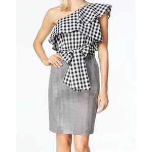 Calvin Klein Black/White Gingham Dress 4 NWT